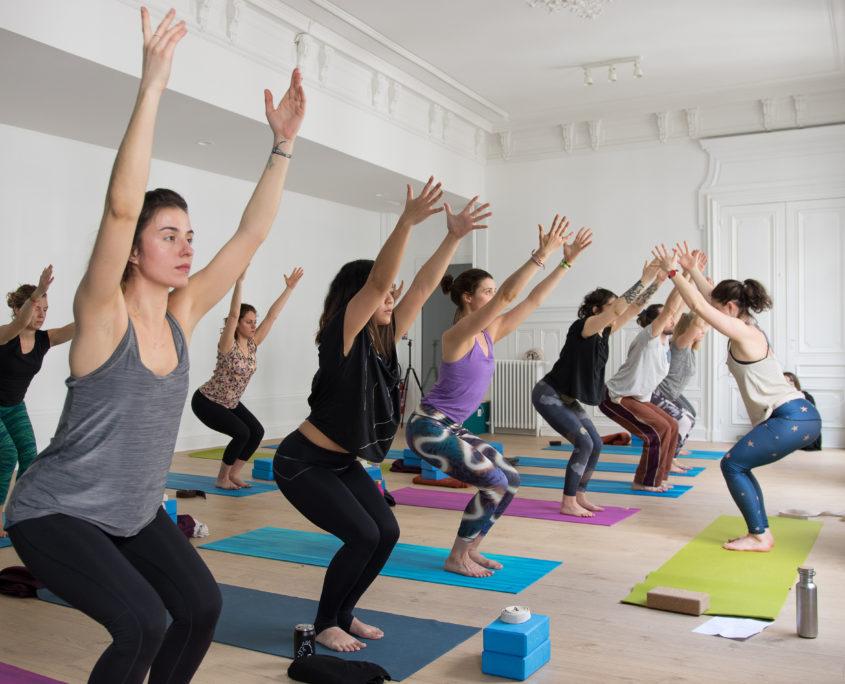 Cours en groupe avec Rose à La Bulle Yoga